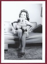 1950's Vintage Nude Photo~Perky Breasts Perfect Body Pinup in Stockings & Garter