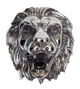 Wall Mount Lion Head Figurine Sculpture  a/u/