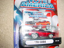 MUSCLE MACHINES '70 CUDA 04-36 RED VOTE AMERICA SERIES MIP FREE USA SHIPPING