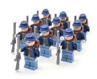 American Civil War Soldier Lego Minifigure North US Revolutionary War
