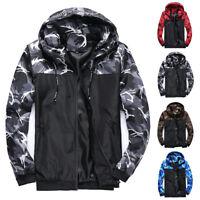 Men's Outwear Sweater Winter Hoodies Camo Jumper Coat Jacket Hooded Sweatshirts