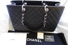 BRAND NEW Chanel Grand Shopping Tote XL black Caviar leather Silver hardware