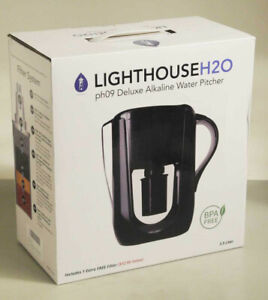 Lighthouse H2O 3.5 Liter Alkaline Water Purifing Pitcher w/ Extra Filter