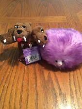Lot Of Two Harry Potter Plush Purple Pygmy & Fluffy Three Headed Dog