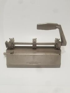 Vintage Boston 3 Hole Punch Heavy Duty Adjustable Positioning