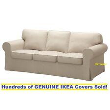 Ikea EKTORP Three (3) Seat Sofa Slipcover Cover NORDVALLA DARK BEIGE Sealed!