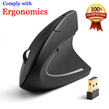 2.4G Wireless Ergonomic Vertical Gaming Mouse 2400DPI Optical Mice for PC Laptop