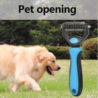 Pet Dog Cat Hair Removal Brush Knot Rake Cutter Fur Shedding Grooming Comb