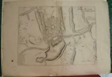 CHARLEROI BELGIUM 1710 NICOLAS DE FER ANTIQUE ORIGINAL COPPER ENGRAVED CITY MAP