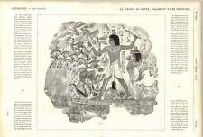 1882 Nile Valley Egyptian Tomb Painting Throwing Sticks