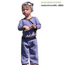 Joli Bebe Organic Cotton Long Sleeved Ruffled Kimono & Pants Set: 12-18m, 18-24m