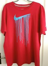 Men's XL Nike Running Swoosh Logo T-shirt Red - Used Very Good Condition