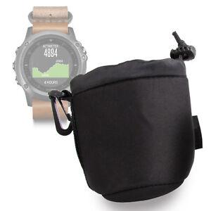 Black Neoprene Pouch Case in Small for Garmin Fenix 3 Titanium / Nylon / Leather