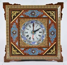 """18"""" Wall Clock Handmade Wall art Inlay With Copper/ Christmas gift"""