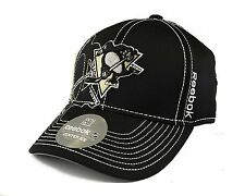 NHL Pittsburgh Penguins Reebok Black Draft Cap Fitted Hat, L/XL
