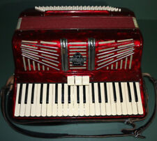 """""""Custom Built"""" outstanding color (red pearl) accordion w/case VIRTUALLY FLAWLESS"""