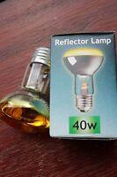 Pack 4 x Crompton 240v 40w E27 R63 R64 reflector bulbs CLEAR YELLOW lens