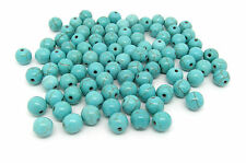 50 Turquoise Beads 8mm Reconstituted Dyed & Stabilised Turquoise J00701xb