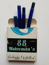 Cartouches d'encre bleue pour stylo plume waterman CF -