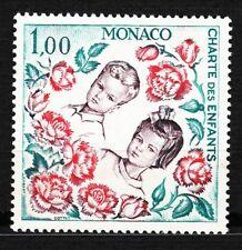 TIMBRE MONACO NEUF N° 606 *  CHARTE DES ENFANTS  PRINCE ALBERT ET CAROLINE