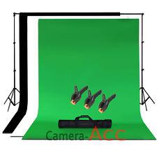Black Green White Photo Studio Background Screen Chroma Key Backdrop Kit Stand