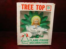 Rare ViTg National Tree Top Angel Christmas Topper 3D Reflector Light Green Box