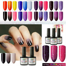 Organic Thermal Nail Polish Temperature Color Change UV LED Gel Vanish Manicure