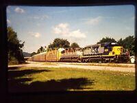 WS04 ORIGINAL TRAIN SLIDE CSX 8305 EMD 7012 EB Q276 Winston PA 1997