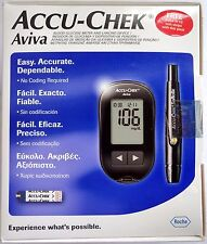 Accu-Chek Aviva Blood Sugar Glucose Monitor Testing Device FREE 10 Test Strips