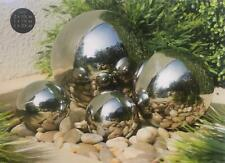 Stainless Steel 4pc Gazing Balls Garden Outdoor Decoration