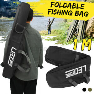 ACOCO Fishing Tackle Storage Bag Portable Folding Fishing Rod Case Large Fishing Pole Reel Gears Organizer Bags
