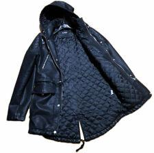 parka giubbotto cappotto parca da uomo invernale di in eco pelle ecopelle nero l