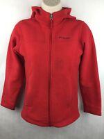 Columbia Kid's Red Fleece Zip-up Jacket Size M 10/12