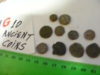 Lot of 10  worn mixed conditions Ancient  mostly Roman Coins(G).
