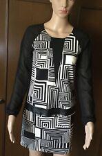 Stunning dress RINASCIMENTO Women, size L, elasticized, black- white color Abito