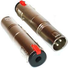 "XLR 3 Pin Male to 6.35mm ¼"" Socket Adapter – Stereo Balanced Mixer Mic Converter"