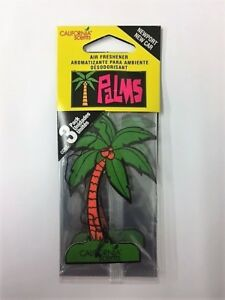 3 Pack California Scents NEWPORT NEW CAR Hanging 2D Palm Tree Car Air Fresheners
