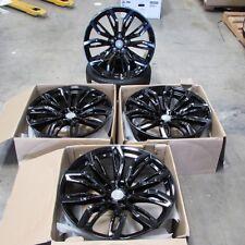 "Fits BMW X5 X6 X5M X6M Gloss Black Rims 20"" 375 Style Staggered Wheels"
