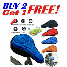 Bike 3D Gel Saddle Seat Cover Bicycle Silicone Soft Comfort Pad Cushion Padded