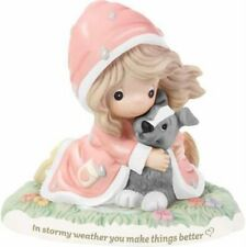 t Precious Moments-Girl/Raincoat/Pup py-In Stormy Weather You Make Things Better