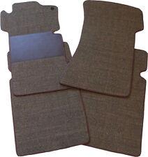 Für BMW 5er E12 Fußmatten 4-teilig Sisal tabac braun mit Trittschutz