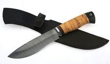 Russian steel ethnic knife wood DAMASCUS steel handmade army ussr hunting