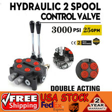 Hydraulic Directional Control Valve Tractor Loader With Joystick 2 Spool 25 Gpm