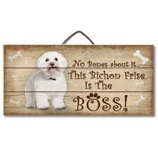 Bichon Frise Is The Boss Reclaimed Pallet Wood Sign USA Made