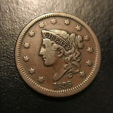 1838 Coronet Large Cent Choice VF Very Fine Matron Head 1c