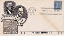 1938 C STEPHEN ANDERSON CACHET PRESIDENTIAL SERIES JAMES MONROE WASHINGTON, D.C.