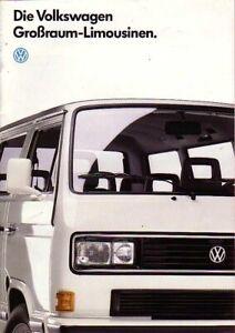 VW Bus T3 - Prospekt - Großraumlimousinen - 09/1987