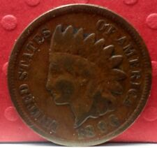 1896 Indian Head 1 Penny KM# 90 a A-204