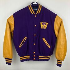 Vintage 80's Holloway Washington Huskies Letterman's Varsity Jacket Size Large