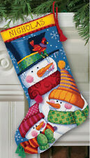 Needlepoint Kit ~ Dimensions Freezin' Season Snowman Christmas Stocking #9139